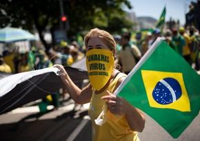 Braziliyada bir gündə 40 minə yaxın yoluxma olub