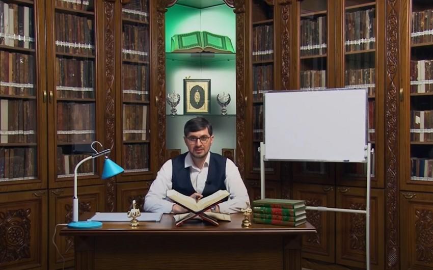 QMİ-nin internet televiziyası Quran dərslərinə başlayıb - VİDEO