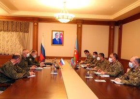 Zakir Hasanov meets with Commander of peacekeeping forces in Karabakh