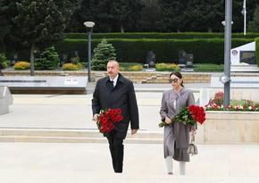 Ilham Aliyev and Mehriban Aliyeva pay tribute to Hazi Aslanov