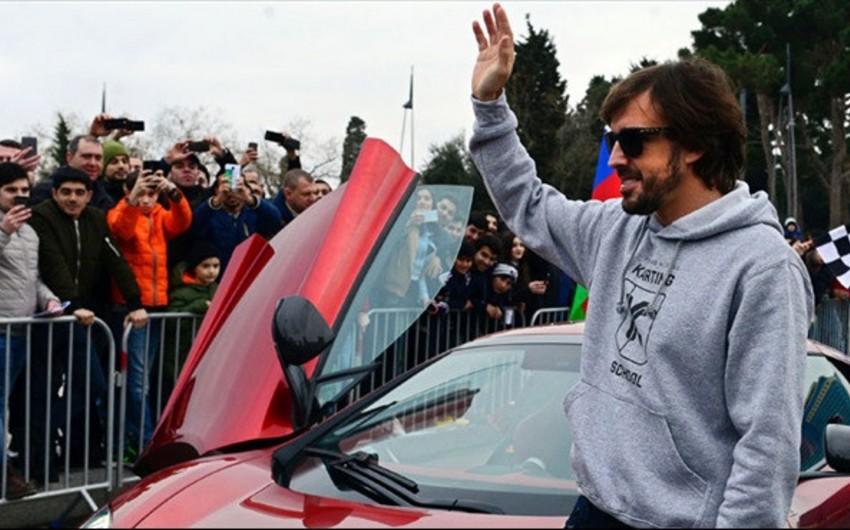 """Fernando Alonso: """"Digər treklərlə müqayisədə Bakıda olduqca böyük sürətə nail olmuşduq"""""""
