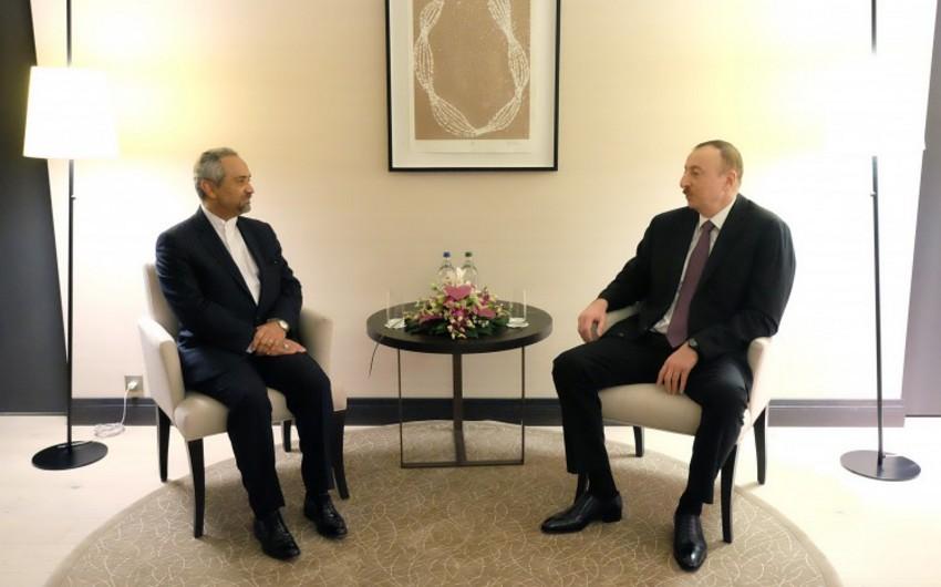 Ильхам Алиев встретился в Давосе с руководителем Администрации Президента Ирана