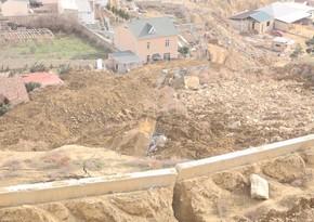 Badamdardakı sürüşmə ərazisində drenaj quyuları qazılıb