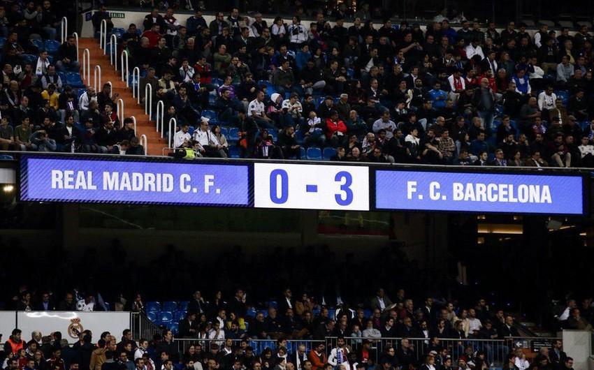Real Madrid son 23 mövsümdə ilk dəfə böyük hesablı 5 məğlubiyyətlə üzləşib