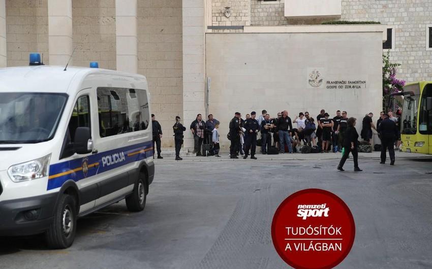 Xorvatiya - Macarıstan oyunu ərəfəsində iki komandanın azarkeşləri arasında dava olub - VİDEO