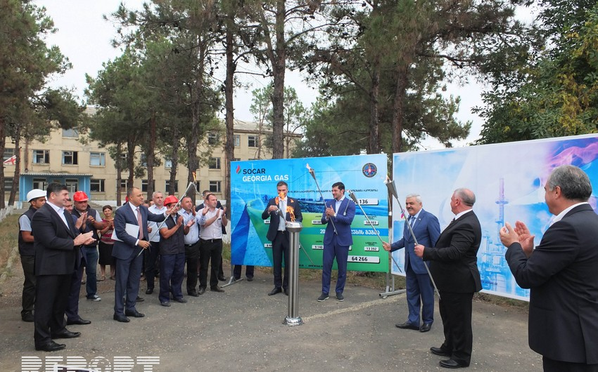SOCAR Gürcüstanın Kvemo-Kartli bölgəsində 27 min nəfəri qazla təmin edib