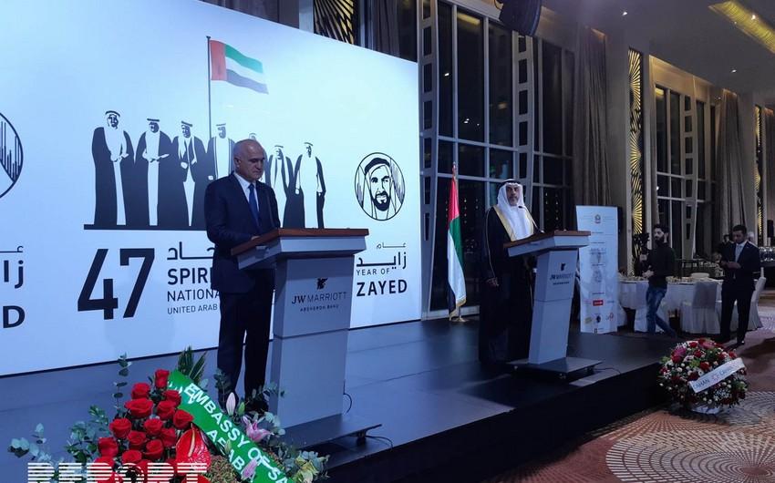 Şahin Mustafayev: Azərbaycan-BƏƏ əlaqələri yüksələn xətt üzrə inkişaf edir