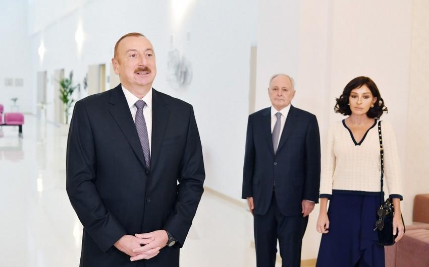 """Prezident: """"Sağlamlığı təmin və bərpa etmək üçün Azərbaycanda bütün şərait var"""""""
