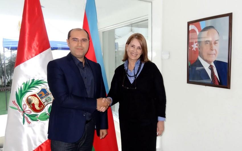 Временный поверенный в делах Азербайджана провел встречу с первым послом Перу