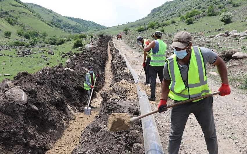 Gürcüstanda azərbaycanlıların yaşadığı 7 kəndə su çəkilir