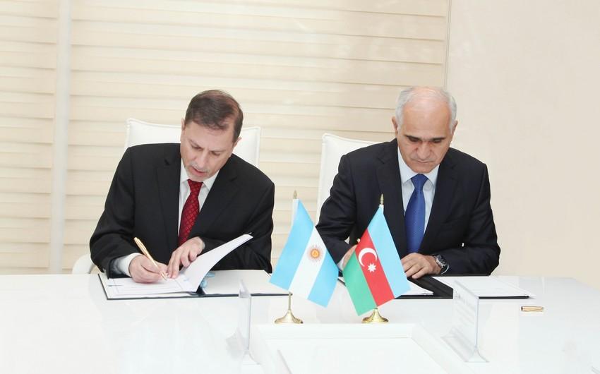 Azərbaycanla Argentina arasında texniki əməkdaşlıq sazişi imzalanıb