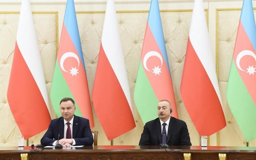 Polşa Prezidenti: Gələcəkdə Azərbaycanla neft və qaz sahəsində əməkdaşlığımızı genişləndirmək fikrindəyik