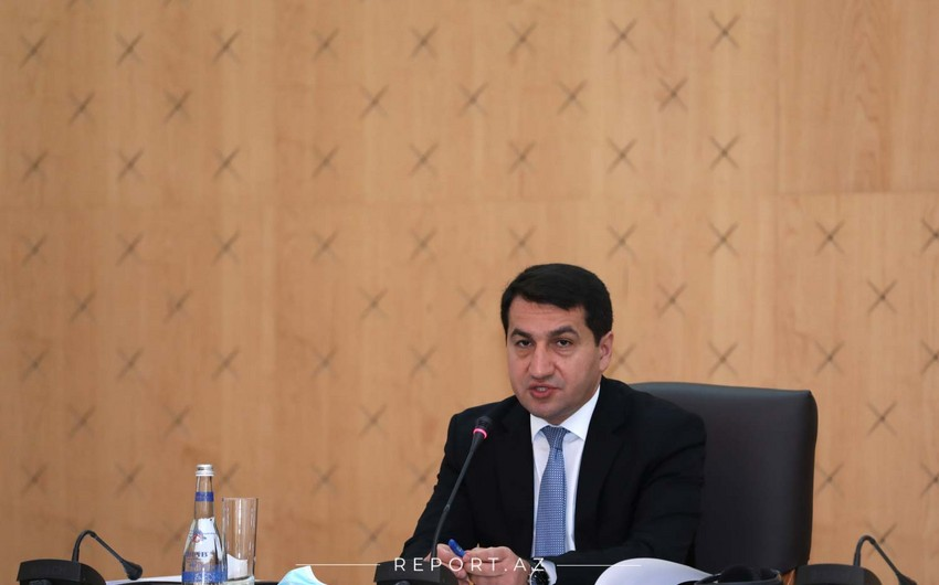 Hikmət Hacıyev Ermənistanın vandalizmi ilə bağlı daha bir faktı açıqladı