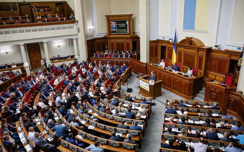 Ukrayna parlamentində Donbasın reinteqrasiyası ilə bağlı sənəd qəbul olunub