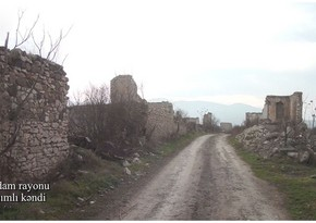 Footage of Gasimli village of Aghdam