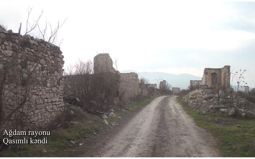 Footage of Gasimli village of Aghdam