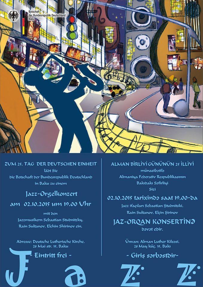 Baku to host jazz concert of German organ musician Sebastian Studnitzky