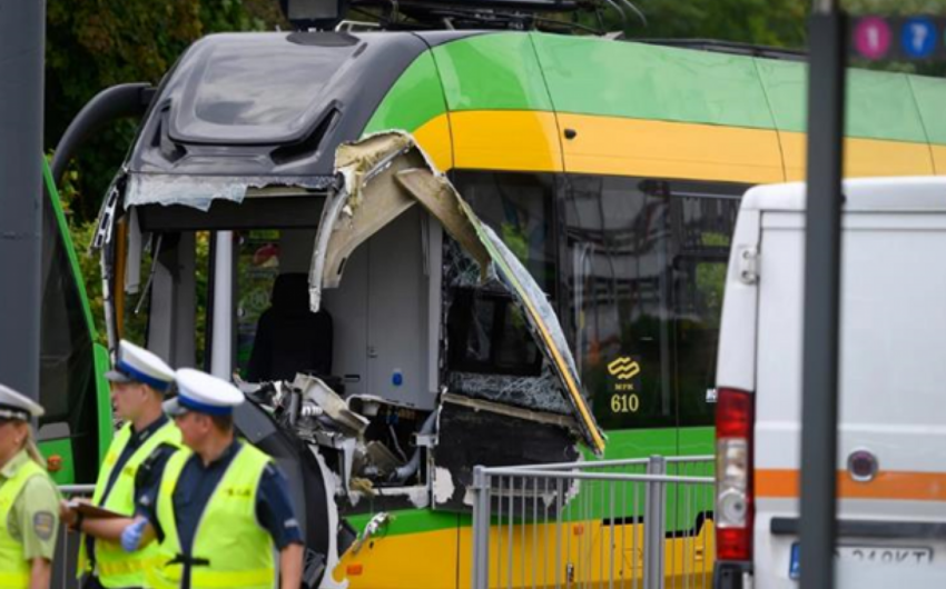 Over 30 injured in trams' collision in Poland