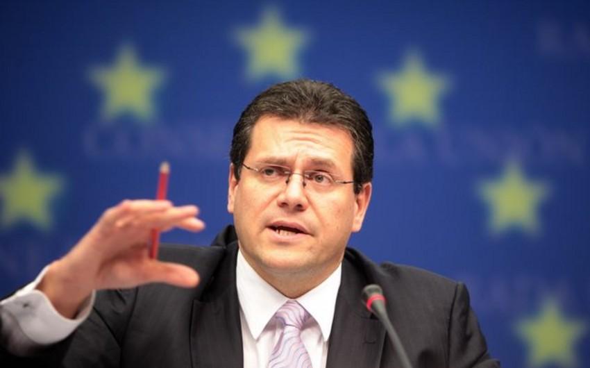 Avropa Komissiyasının vitse prezidenti: Türk axını layihəsi maddi cəhətdən əlverişli deyil