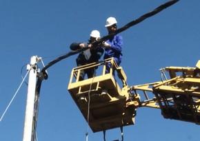 """""""Azərişıq"""" Şimal-Qərb bölgəsində enerji təchizatının təminatı üçün işlər görür"""