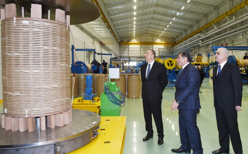President Ilham Aliyev attends opening of a large-size transformer plant