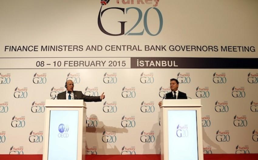 G20: Neftin ucuzlaşması dünya iqtisadiyyatının inkişafına təkan verəcək