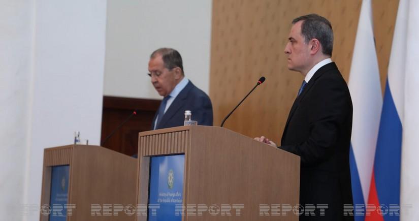 Bayramov, Lavrov mull tensions on Azerbaijan-Armenia border