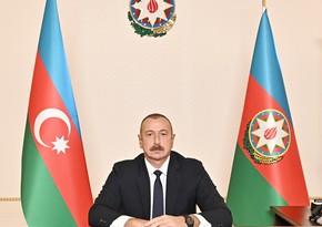 Prezidentİlham Əliyev Azərbaycan xalqını təbrik edib