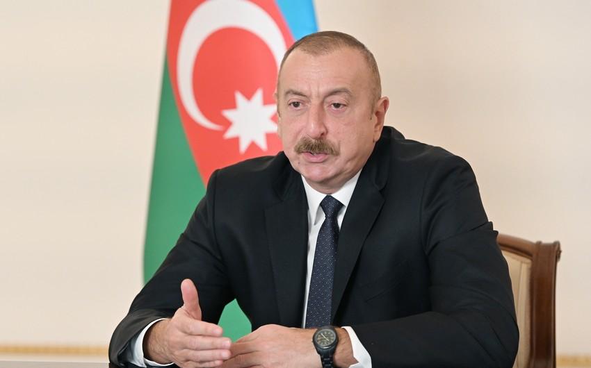 Prezident: Ermənistan rəhbərliyi müharibədən düzgün nəticələr çıxararsa, onların yeni platformada yeri ola bilər