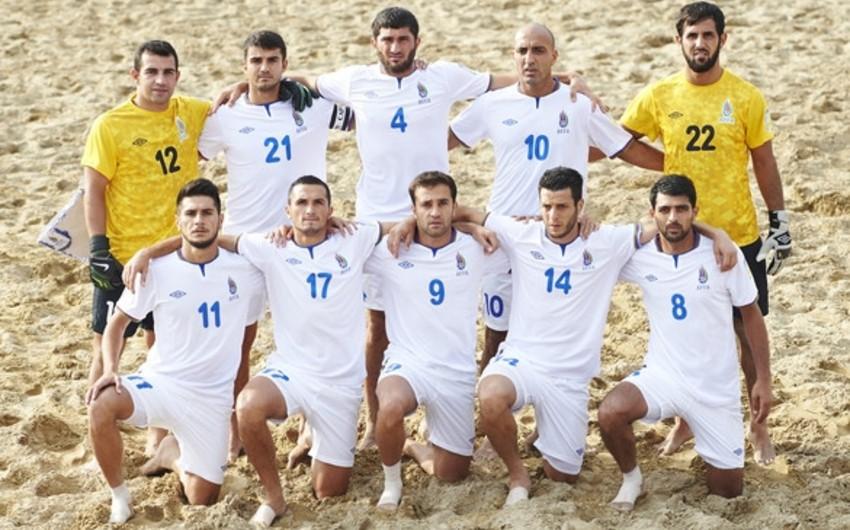Çimərlik futbolu üzrə Azərbaycan millisi İspaniyaya qalib gəlib