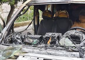 Gürcüstanın Kiyevdəki səfirliyinin avtomobili yandırılıb