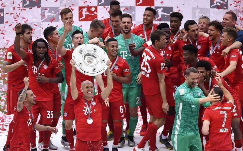 Bavariya 7-ci dəfə futbol üzrə Almaniya çempionu olub