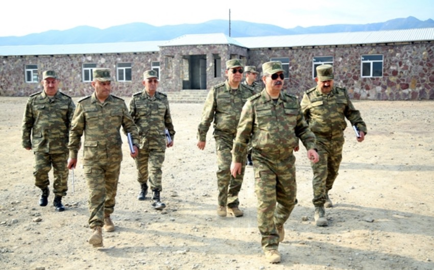 Defense Minister of Azerbaijan inspected the progress of construction work in the military units in frontline zone