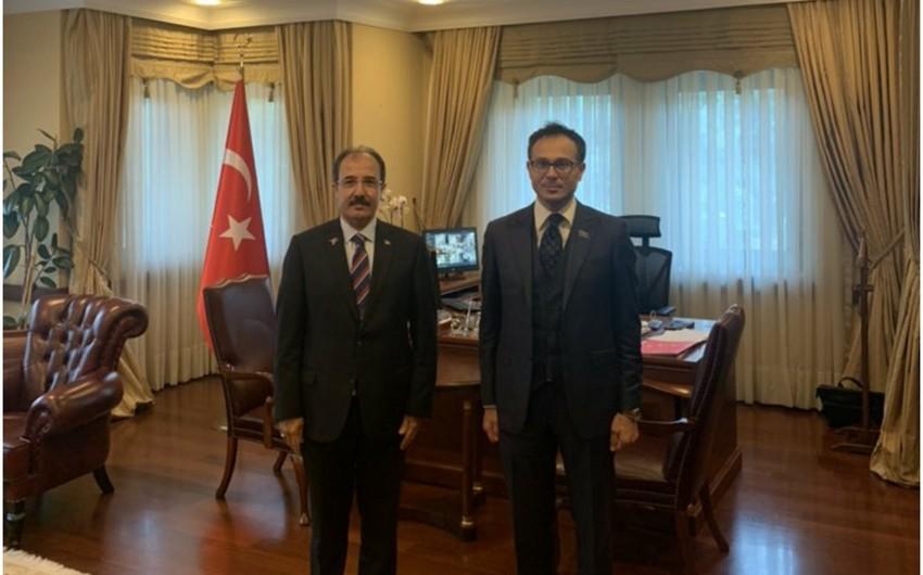 Deputat Ramil Həsən Türkiyə səfiri ilə görüşüb