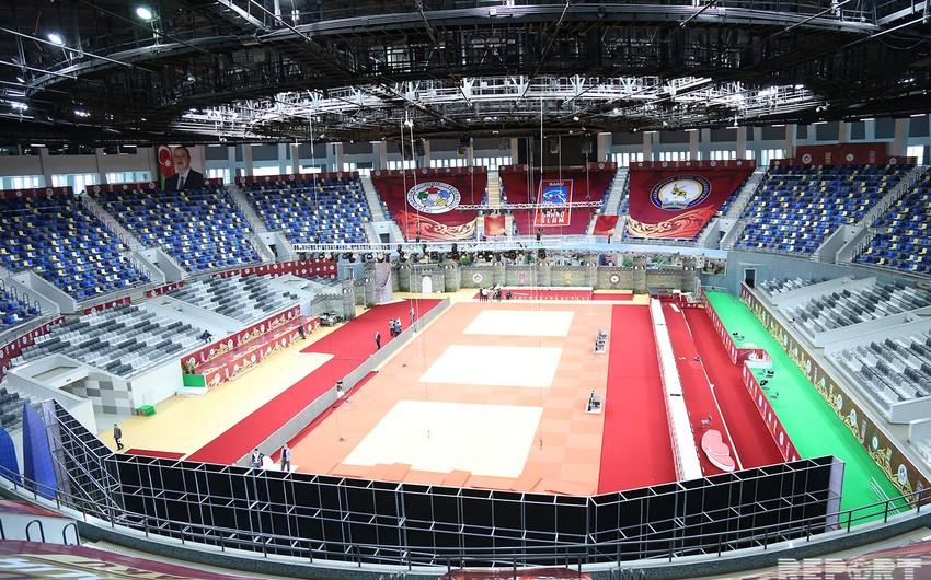 Heydər Əliyev adına İdman Sarayı ilk böyük cüdo yarışına hazırdır - FOTOREPORTAJ