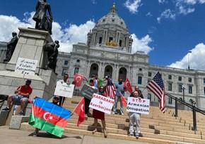 В штате Миннесота проведена акция в поддержку Азербайджана