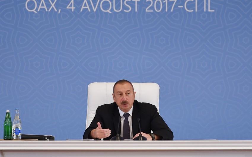 """Prezident İlham Əliyev: """"Azərbaycan indi dünya üçün qaz təchiz edən etibarlı ölkəyə çevrilib"""""""