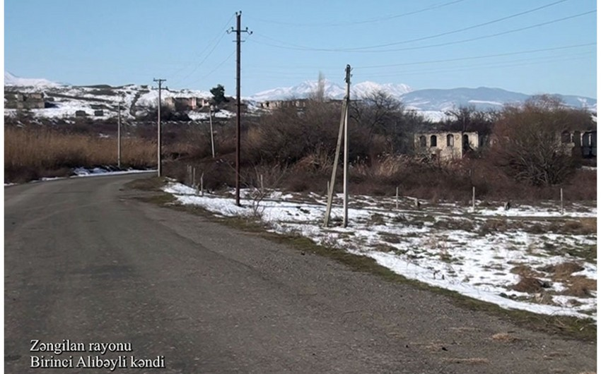 Footage from Birinji Alibeyli village of Zangilan