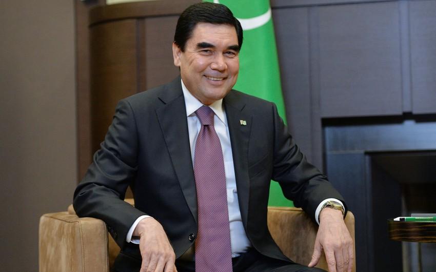 Türkmənistan prezidenti yeni gəmi ilə Xəzərdə səyahət edib