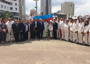 Leyla Aliyeva met with Azerbaijani delegation participating in Minsk 2019 European Games