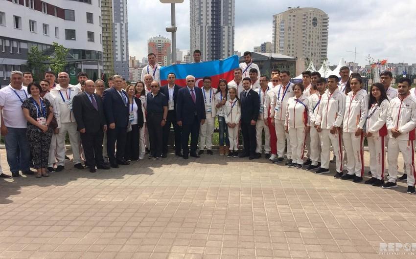 Leyla Əliyeva Minsk 2019 II Avropa Oyunlarına qatılan Azərbaycan nümayəndə heyəti ilə görüşüb