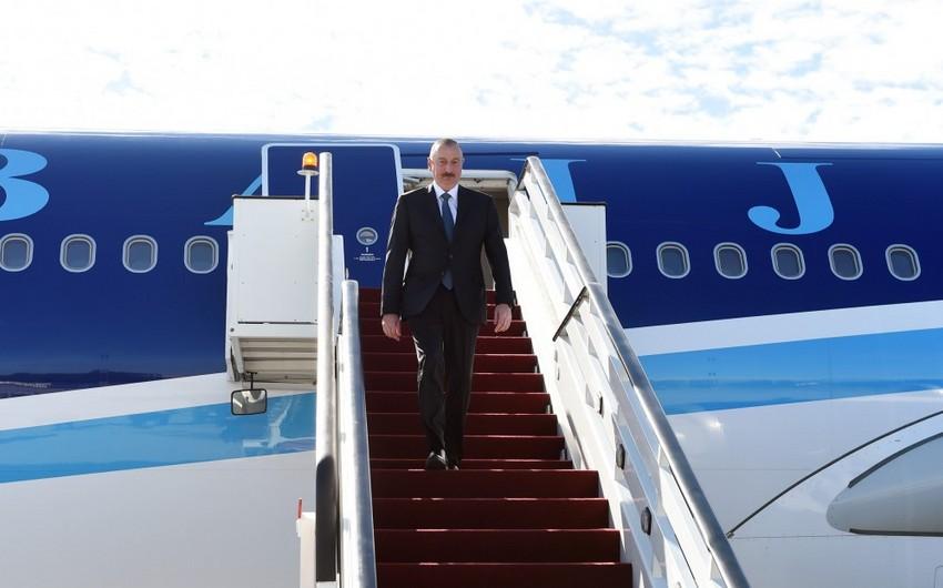 Azərbaycan Prezidenti Latviyaya rəsmi səfərə gedib