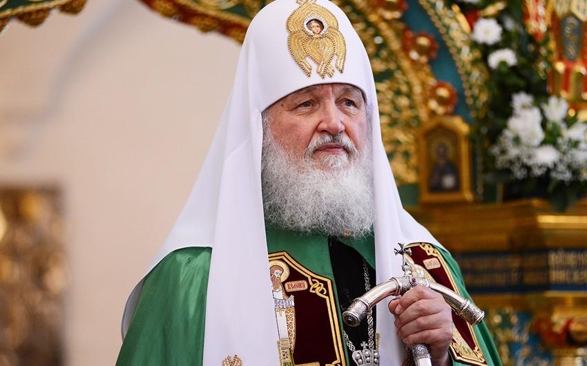 Patriarx Kirill: Qarabağ münaqişəsi tərəfləri barışığa doğru və qaçqınların geri qaytarılması üzrə addımlar atmalıdır