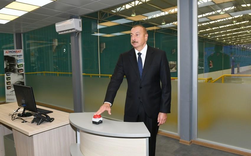 В Сумгайытском химическом промышленном парке состоялось открытие ОООАзмонбат