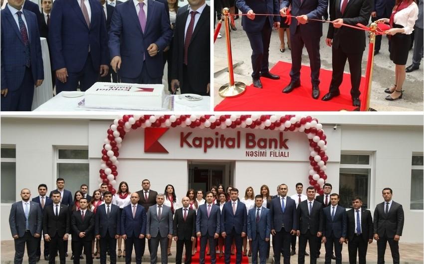 """""""Kapital Bank"""" yenilənmiş Nəsimi filialını istifadəyə verib"""