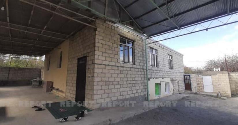 Goranboyda Vətən müharibəsi zamanı dağılan ev təmir olunub