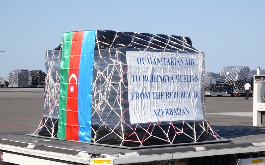 Azərbaycan hökuməti Myanma müsəlmanlarına 100 ton humanitar yardım göndərib