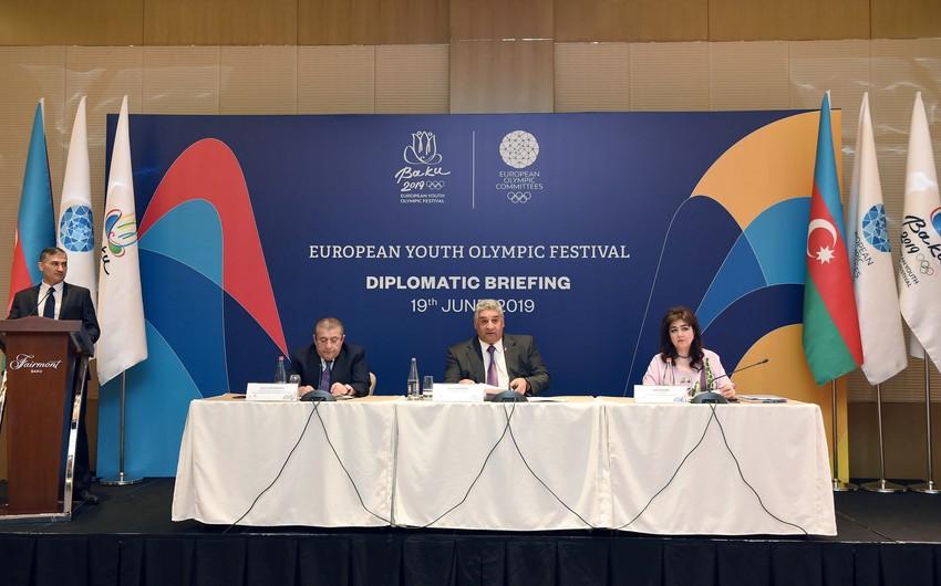 """""""Bakı-2019"""" Avropa Gənclər Yay Olimpiya Festivalı diplomatik brifinqə ev sahibliyi edib"""