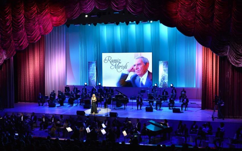 Ramiz Mirişlinin mahnılarından ibarət konsert proqramı olub