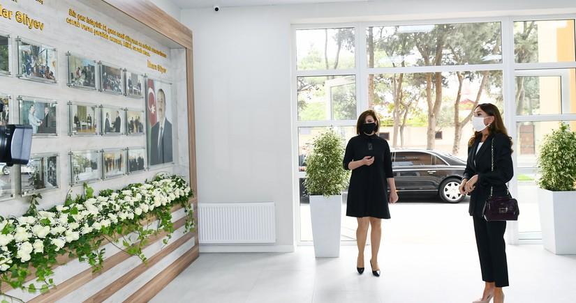 Мехрибан Алиеваприняла участие в открытии нового здания Детской школы искусств